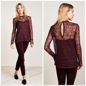 Theory cami+ lace top set. Fits S